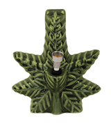 Ceramic Bong - Green Leaf